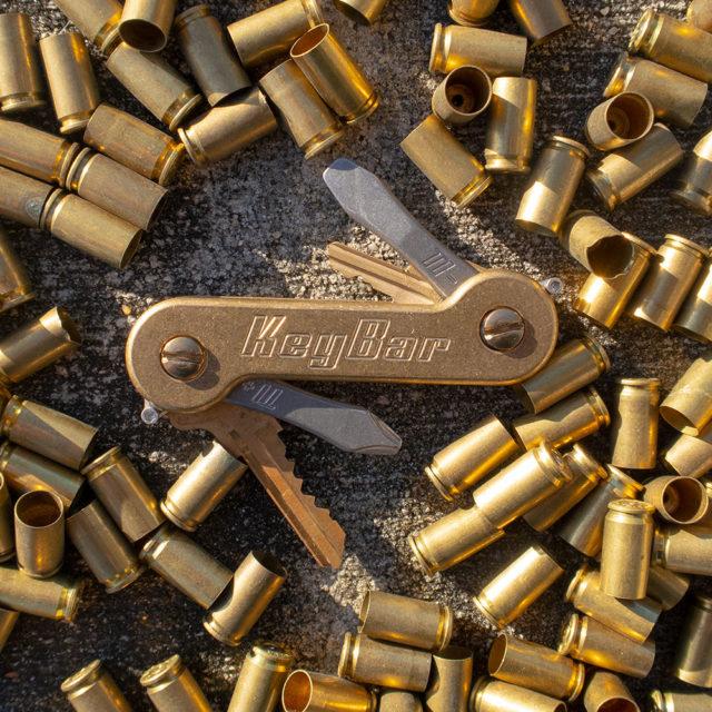 Stonewash Brass KeyBar Bullets