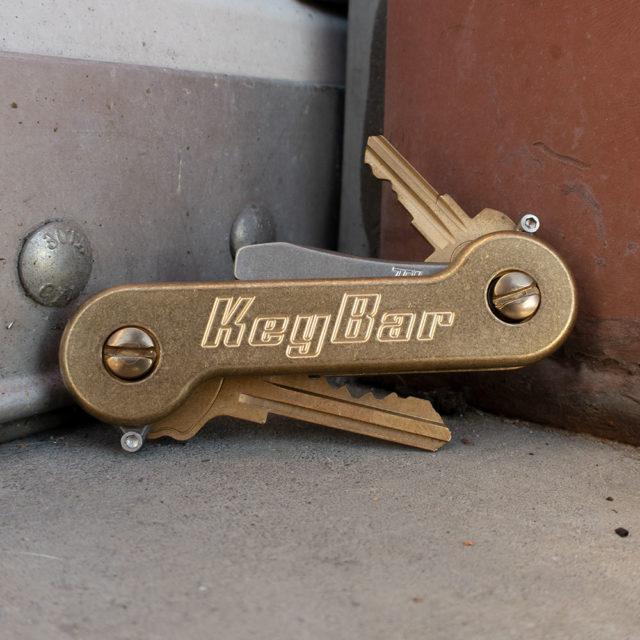 Stonewash Brass KeyBar