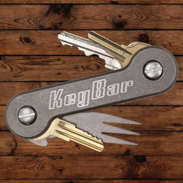 Titanium KeyBar Key Tool Front