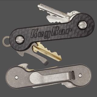 Carbon-Fiber-Titanium-KeyBar-Key-Organizer-EDC-Tool