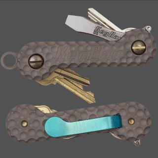 Cratered-Titanium-KeyBar-Key-Organizer-EDC-Tool
