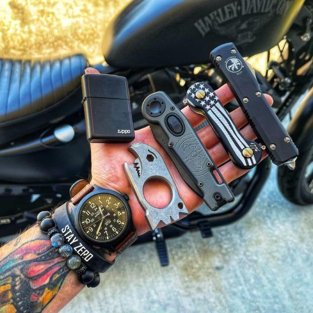 KeyBar Black Anodized Aluminum Freedom EDC