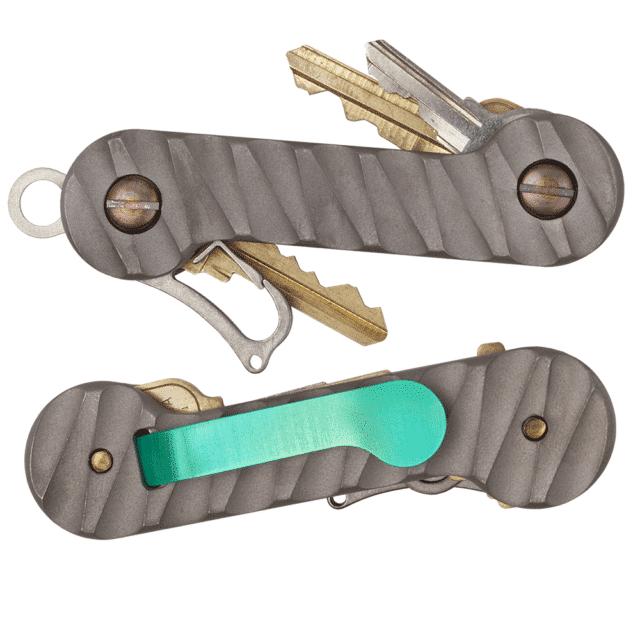 Carved-Sandblasted-Titanium-KeyBar-Key-Organizer-EDC-Tool