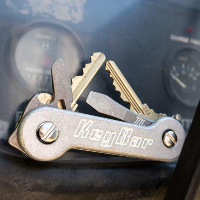 KeyBar Aluminum Key organizer stonewash aluminum