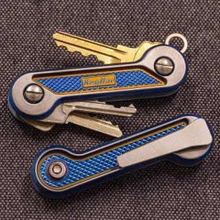 Diamond Crosshatch Lightweight Titanium KeyBar