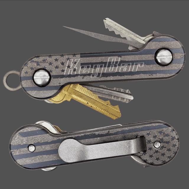 Distressed-American-Flag-Titanium-KeyBar-Key-Organizer-EDC-Tool