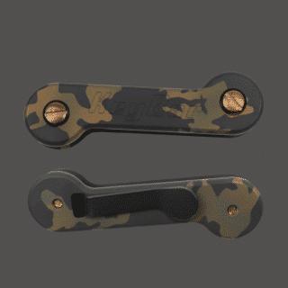 Updated-OG-Camo-Cerakoted-Aluminum-KeyBar-Key-Organizer-with-Cerakoted-Titanium-pocket-clip-EDC-Tool