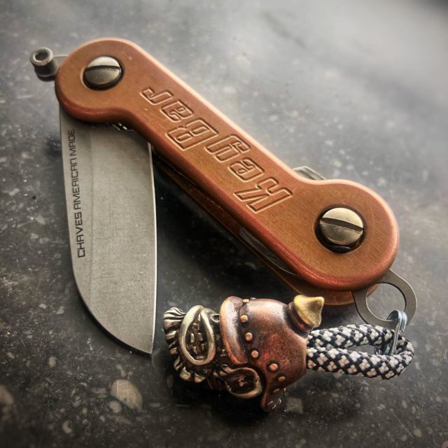 Copper KeyBar With Custom Blade Insert