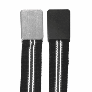 Black-Charcoal-White-Striped-Equator-Belt-with-Stonewashed-and-Black-Cerakoted-Buckles