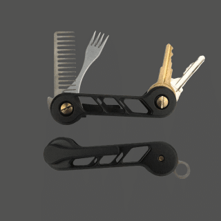 New-Black-Intake-Titanium-KeyBar-Key-Organizer-EDC-Tool