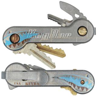 Silver Titanium Bomber KeyBar