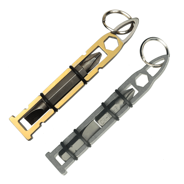 Aluminum-and-Titanium-Bullet-Bits-with-Phillips-Head-and-Flathead-Bits-Zipper-Pull-EDC-Tool