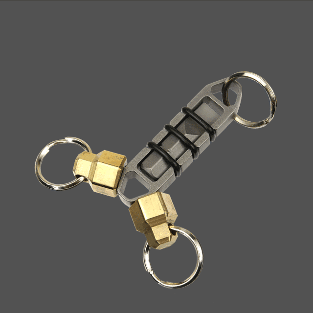 Magnetic-Steel-Zipper-Bit-with-Flathead-Screwdriver-Bit-and-Brass-MagNuts-EDC-Tool