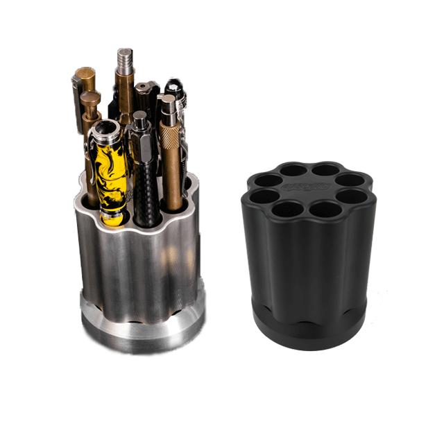 Aluminum-and-Cerakoted-Black-Aluminum-Quick-Draw-by-KeyBar-EDC-Tool-Pen-Holder