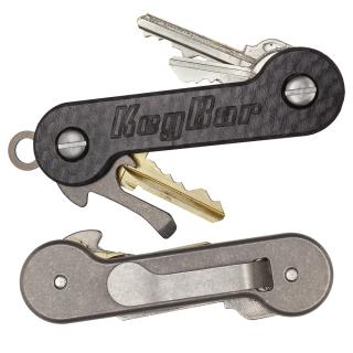 Carbon-Fiber-Titanium-KeyBar-Key-Organizer-EDC-Tool-White-Background