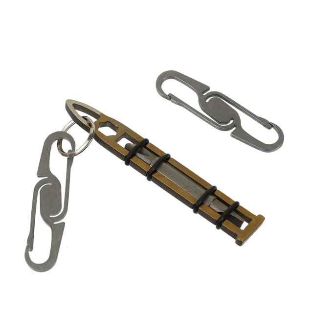 Double-Ended-Titanium-Carabiner-by-KeyBar-In-Use-White-Background