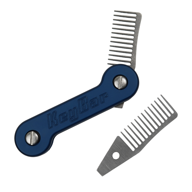 Titanium-Beard-Comb-2.0-Insert-for-KeyBar-Key-Organizer-EDC-Tool-White-Background