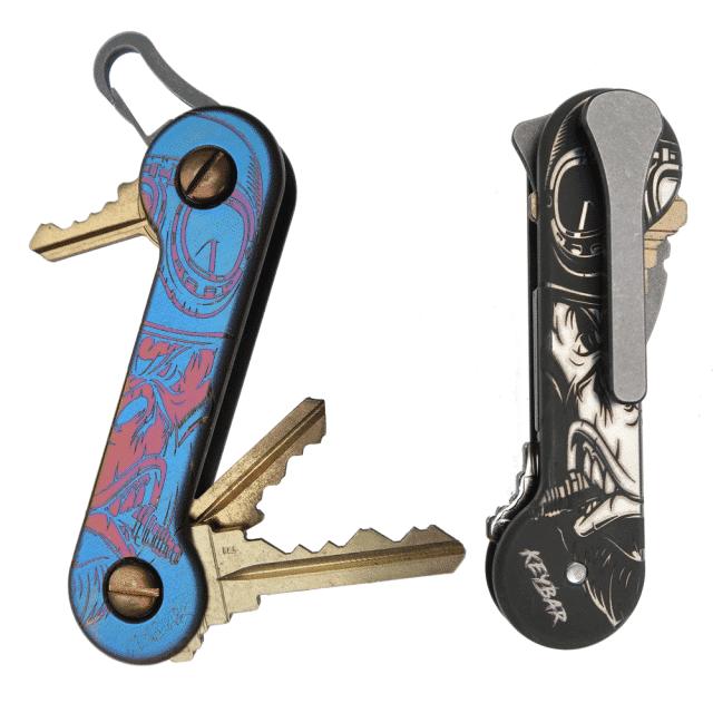 Titanium-Gorilla-KeyBar-With-Milled-Clip-Key-Organizer-EDC-Tool