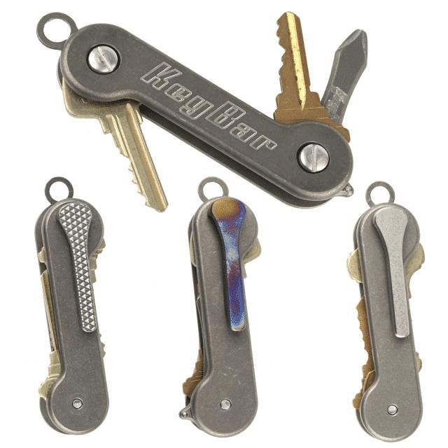 Updated-Milled-Clip-Titanium-KeyBar-Key-Organizer-EDC-Tool