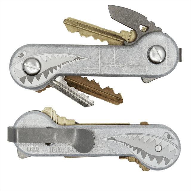 Aluminum bomber KeyBar With Regular Deep Carry Clip