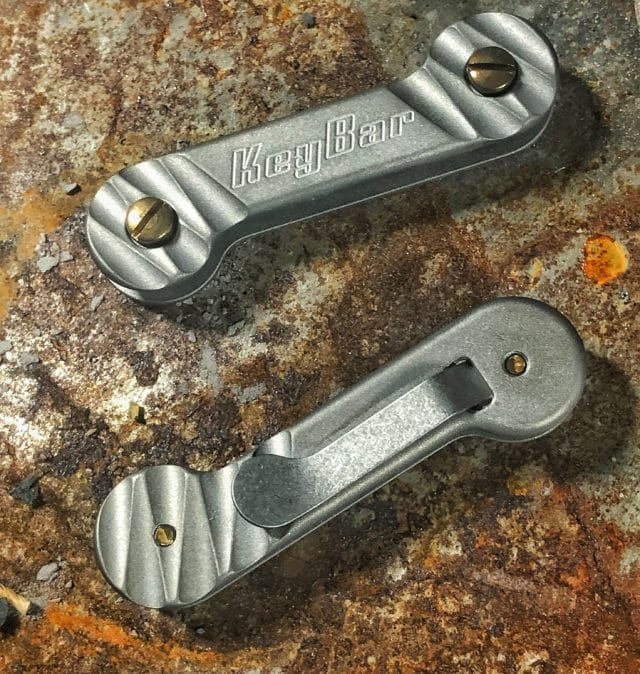 Half Carved Titanium KeyBar