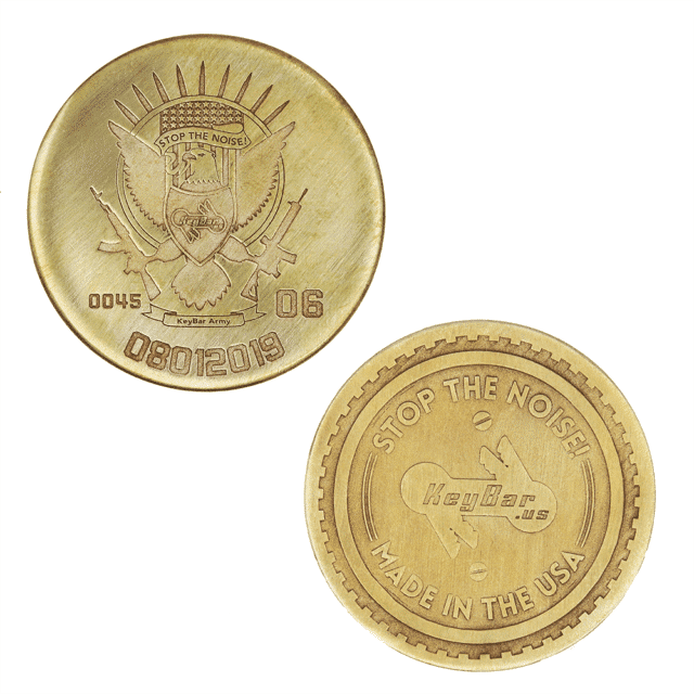 KeyBar Lasered Challenge Coin