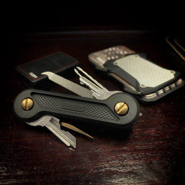 Black Cerakote Diamond Crosshatch Titanium KeyBar