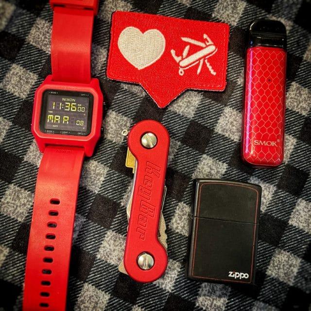 Red Anodized Aluminum KeyBar EDC Lifestyle