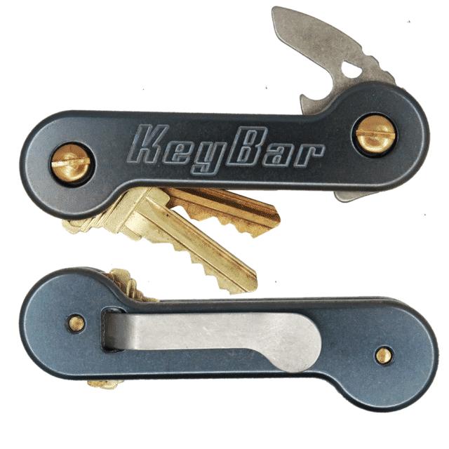 Lasered Black Titanium KeyBar