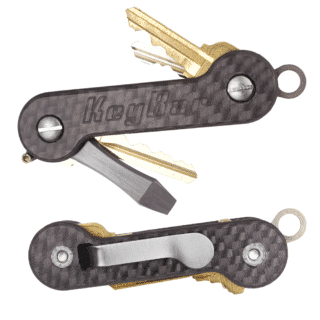 Updated Full Carbon Fiber KeyBar Key Organizer EDC Tool