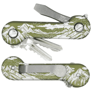 Green Sierra Aluminum KeyBar With Standard Clipo