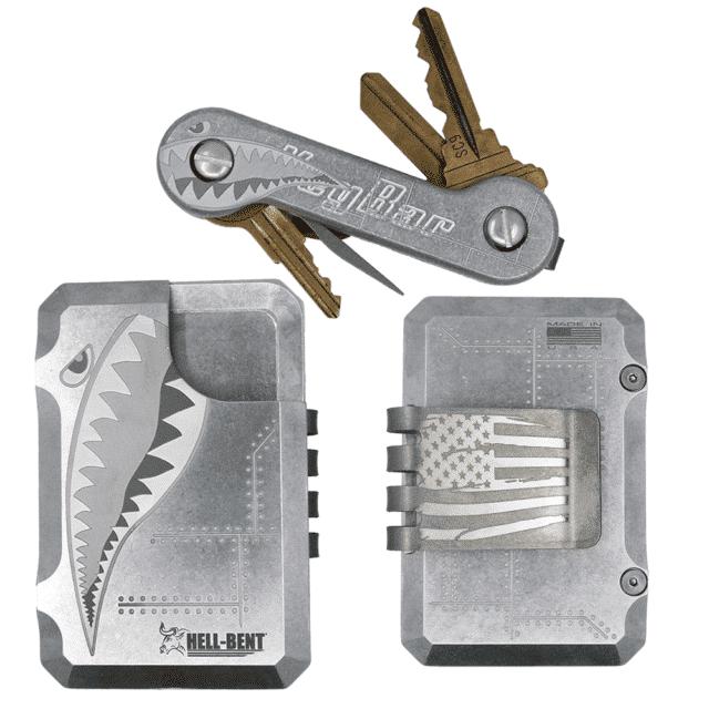 Aluminum-Bomber-Hell-Bent-Wallet-and-KeyBar-Combo