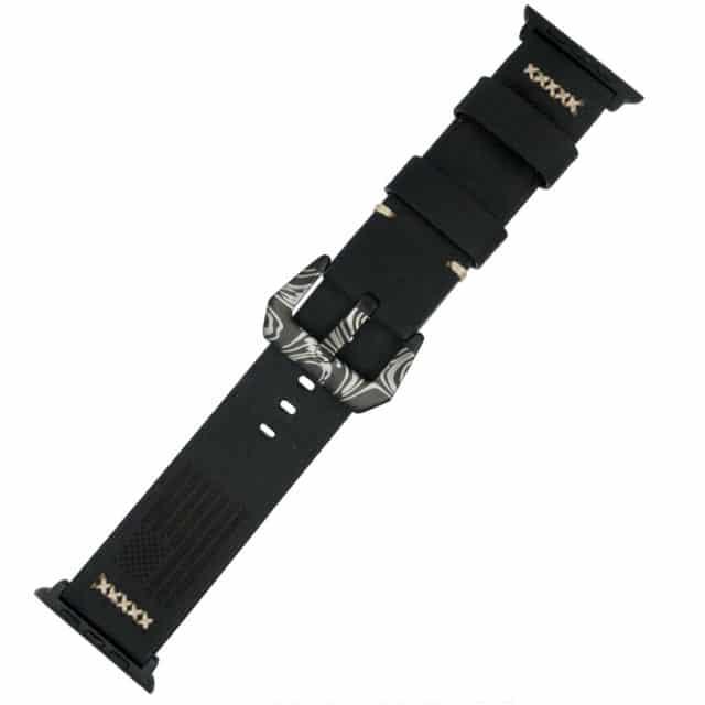Black-Apple-Watch-Band-Customized-by-KeyBar
