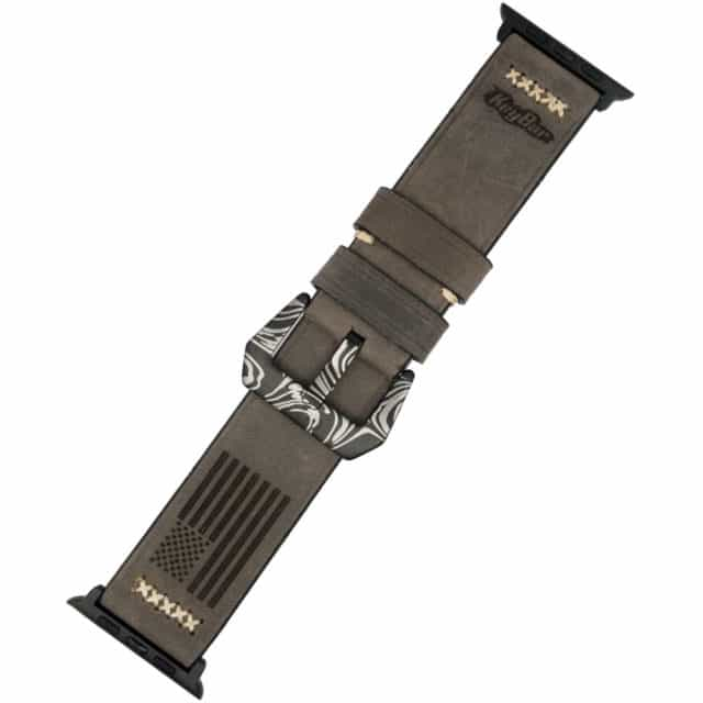 Gray-Apple-Watch-Band-Customized-by-KeyBar
