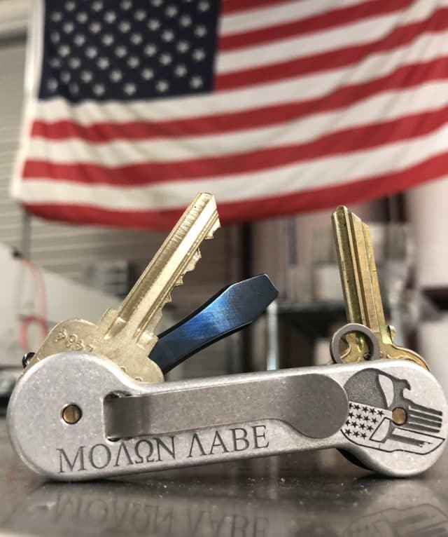 Upgraded Molon Labe KeyBar With Carbon Fiber Front