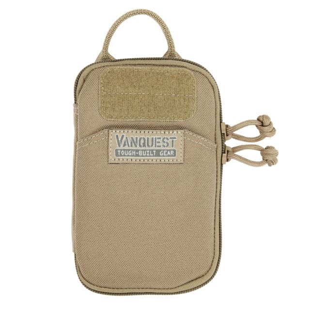 Coyote Tan Vanquest Personal Pocket Maximizer Slim Pouch Front