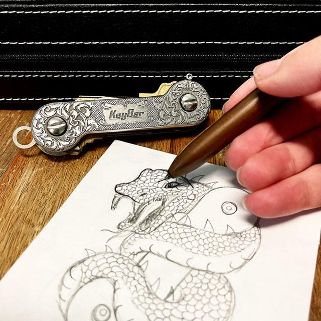 EngraverHand Aluminum KeyBar-Drawing