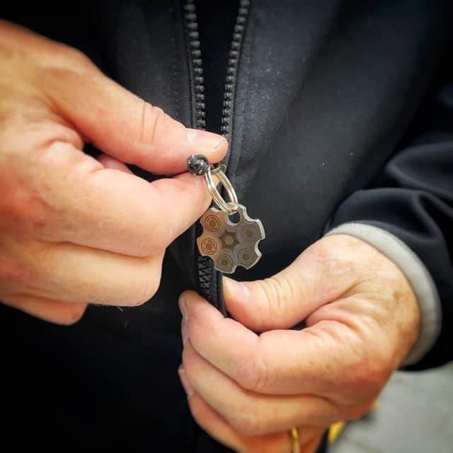 Custom Titanium Revolver Bead from KeyBar