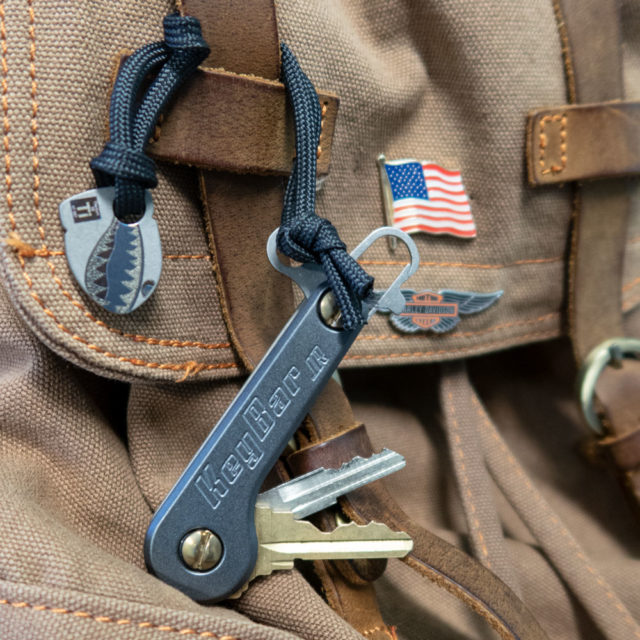 Midnight Titanium KeyBar JR key organizer pocket carry bomber charm
