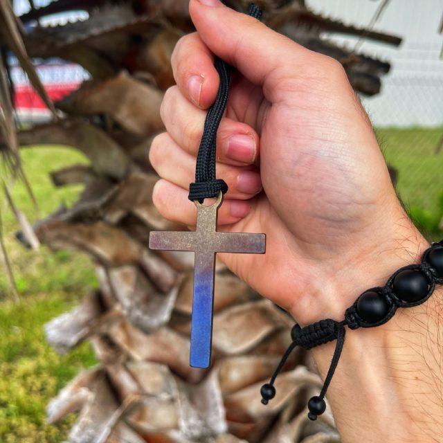 Titanium Multicolored Cross Bead Zipper Pull from KeyBar