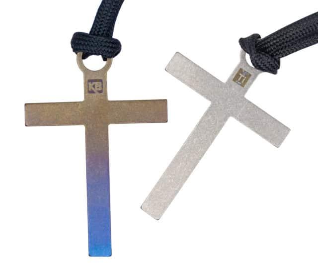 Titanium Crosses Zipper Pull/Beads by KeyBar