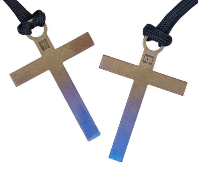 Titanium Color Dipped Cross Bead / Zipper Pull by KeyBar