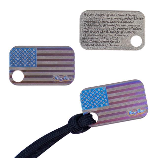 American Flag Titanium Bead