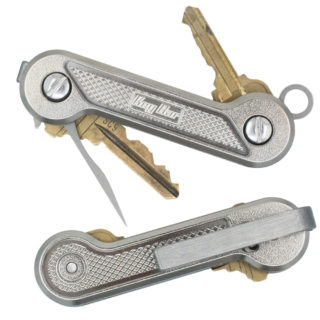 Diamond-Crosshatch-Titanium-KeyBar-Key-Organizer-EDC-Tool