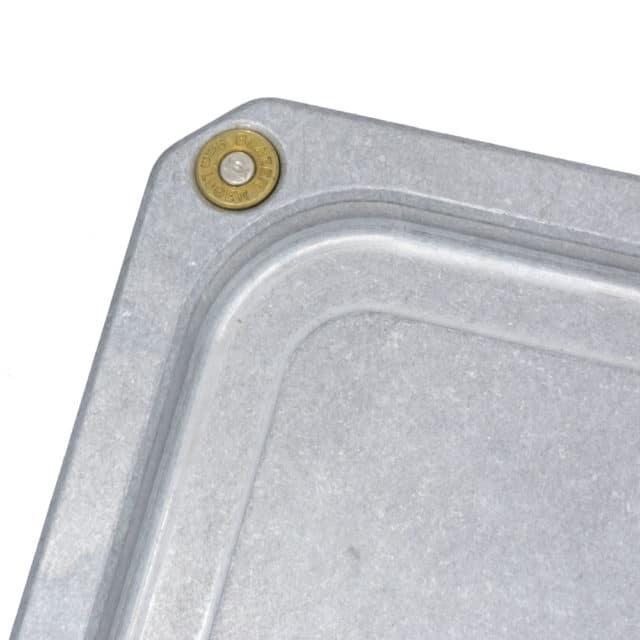 Billet-Aluminum-Coin-Catcher-Tray-Closeup-of-Bullet-Inlay-by-KeyBar-Key-Organizer-EDC-Tool