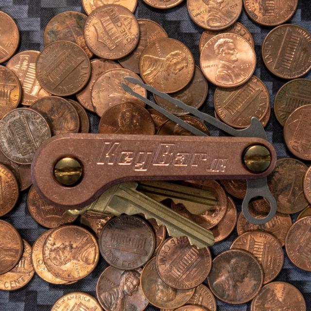 Copper KeyBar JR pennies key organizer tool organizer minimalist essentials