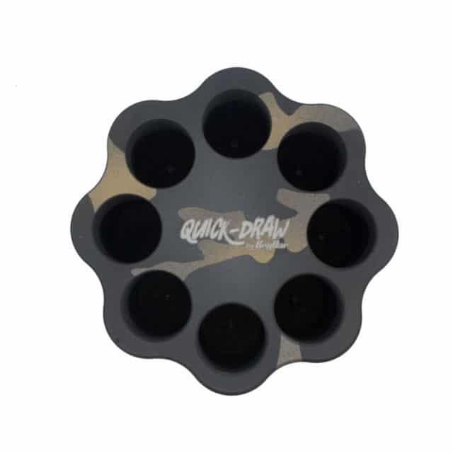 New-Camo-Quick-Draw-Aluminum-Cerakoted-by-KeyBar-Key-Organizer-EDC-Tool---from-top
