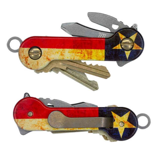 Lone Star Aluminum KeyBar texas flag uv print key organizer