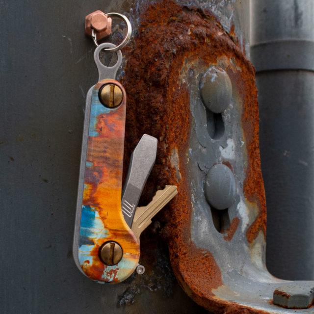Street Series Rust Aluminum KeyBar JR UV printed rusted key organizer