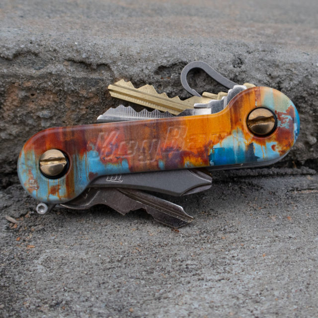 Street Series Rust Aluminum KeyBar UV printed rusted key organizer
